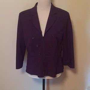 Tahari Purple Blazer